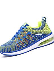 Masculino-Tênis-Conforto-Rasteiro-Preto / Roxo / Coral / Azul Real-Couro Ecológico-Para Esporte