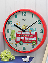 Family Wall Clock Round Plastic 12 Indoor Clock
