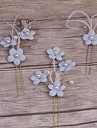 Women's Alloy / Imitation Pearl Headpiece-Wedding / Special Occasion / Casual Wreaths / Hair Clip / Hair Claws / Hair Pin 3 Pieces