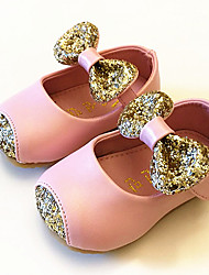 Girl's Baby Flats First Walkers PU Casual Pink Gold