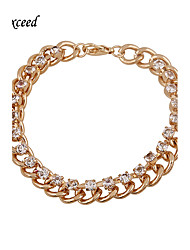 Brand Top Quality Gold Crystal Chain Bracelets For Christmas Gift BL153036