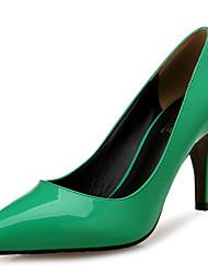 Stöckelabsatz - Lackleder - FRAUEN Absätze/Spitzschuh - Pumps / High Heels ( Grün )