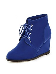 Women's Boots Spring / Fall / Winter Others Fleece Office & Career / Dress / Casual Wedge Heel Lace-up Black / Brown / Navy Others
