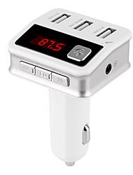 kit para carro carregador porta três Bluetooth USB Transmissor FM Bluetooth