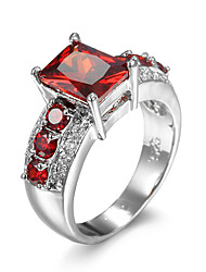 Ring AAA Cubic Zirconia Zircon Cubic Zirconia Alloy Purple Red Jewelry Wedding Daily 1pc