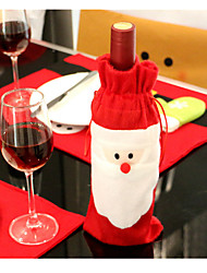 Two Pack Sell Santa Claus Red Wine Bottle Cover Christmas Gift Bag