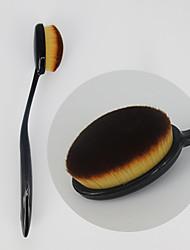 1 מברשת מייקאפ שיער סינטטי מקצועי סינטטי נייד פלסטיק ניילון פנים אחרים