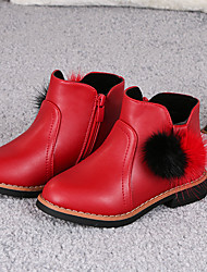Girl's Boots Winter Others PU Casual Black Pink Red