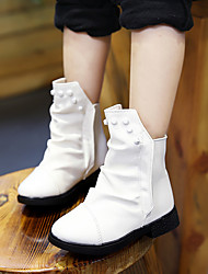 Girl's Boots Others PU Casual Black / White