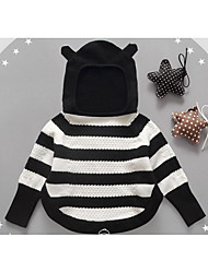 Girl Casual/Daily Striped Sweater & Cardigan,Cotton Winter / Fall Long Sleeve Short