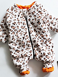 Unisex Casual/Daily Leopard Overall & Jumpsuit,Cotton Winter / Fall Long Sleeve