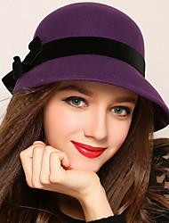 Women Wool Bucket Hat,Vintage / Cute / Party / Work / Casual Spring / Fall / Winter