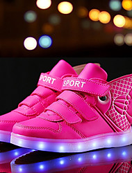 LED Light Up Shoes, Boys Grils Sneakers Spring / Summer / Fall / Winter Leather Outdoor / Athletic / Casual High Top Shoes / Blue / Pink / White /