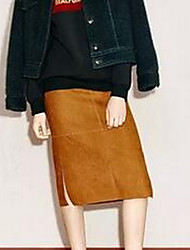 Women's Knee-length Skirts A Line Solid