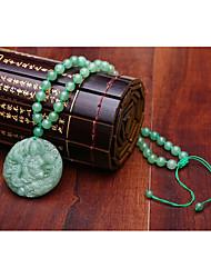 Colar Sem Pedra Colares com Pendentes Jóias Diário / Casual Religioso Cristal Masculino 1peça Dom Verde Claro