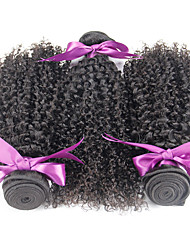 Mongolian Kinky Curly Virgin Hair 3pcs Kinky Curly Weave Human Hair 100% Human Hair Weave Natural Black 100g