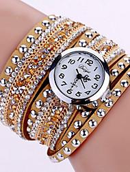Женские Модные часы Наручные часы Часы-браслет Светящийся Цветной Имитация Алмазный Кварцевый PU ГруппаВинтаж Блестящие Богемные С