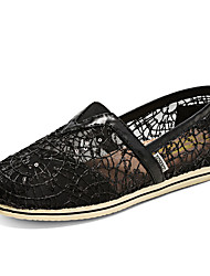 Women's Spring Fall Round Toe Canvas Casual Flat Heel Slip-on Black/Gold/Silver
