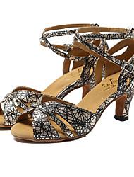 Non Customizable Women's Dance Shoes Sparkling Glitter Sparkling Glitter Latin / Jazz Sandals / Heels Stiletto HeelProfessional / Indoor