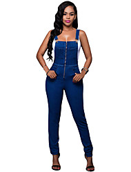 Women's Trendy Denim Wash Overall