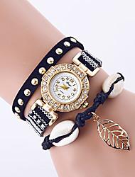 Femme Montre Tendance / Montre Bracelet / Bracelet de Montre Quartz Coloré PU BandeVintage / Feuilles / Bohème / Charme / Bracelet / Cool