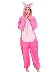 Kigurumi Пижамы Аниме Фестиваль / праздник Нижнее и ночное белье животных Halloween розовый Пэчворк Velvet норки Кигуруми Для