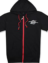 Ternos de Cosplay Inspirado por Naruto Itachi Uchiha Anime Acessórios de Cosplay Camisa Preto Algodão Unissexo