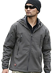 Shark Skin Soft Shell Clothing Outdoor Climbing Service Walking Jacket Men 's Large Waterproof Breathable Jacket 1 Set