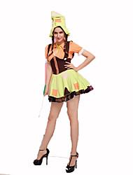 Sorcier/Sorcière Fête / Célébration Déguisement Halloween Rouge / Noir / Jaune Couleur Pleine Robe / Chapeau / CulottesHalloween / Noël /