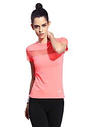 Corrida Camiseta Mulheres Manga Curta Respirável / Secagem Rápida / Confortável Náilon ChinêsAcampar e Caminhar / Exercicio e Fitness /