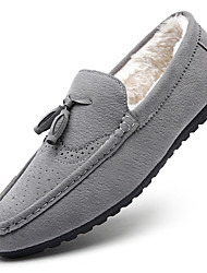 Unisex Loafers & Slip-Ons Spring Fall Winter Comfort Fabric Chiffon Outdoor Office & Career Casual Flat Heel Black Gray Khaki