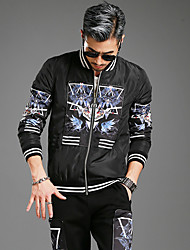 2016 nova moda inverno personalidade tendência casual de homens cultivando jaqueta de algodão yushoukuan