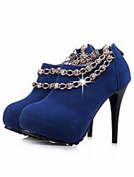 Feminino-Saltos-Plataforma / Sapatos com Bolsa Combinando-Salto Agulha-Preto / Azul / Vermelho-Courino-Casual / Festas & Noite