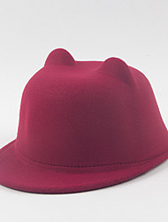 Fashion Imitation Cashmere Dome Small Cap Duck Tongue English Cat Ear Hat