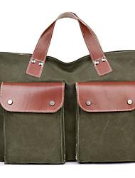 Men Women Cowhide Canvas Casual Office & Career Laptop Bag Business Shoulder Bag Handbag