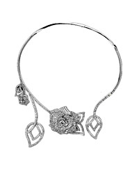 Women's Pendant Necklaces / Alloy Flower Style Pendant Euramerican Bridal Silver Jewelry Wedding Party Casual 1pc