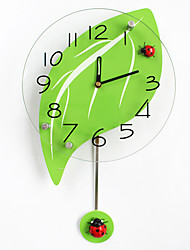 Modern/Contemporary Houses Wall Clock,Others Glass / Wood 24*43CM Indoor Clock