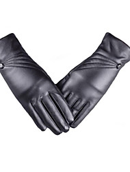 Touch Screen Ladies Warm Leather Gloves