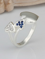 Jewelry Women Heart Silver Ring Sterling Silver Rings Band Rings Statement Rings