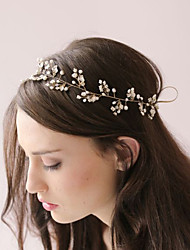 Women Bridal Headband Fashion Simple Handmade Beaded Pearl Hair Band Hair Accessories  1 Piece