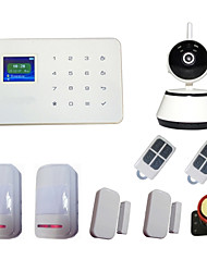 Wireless GSM Alarm System & Alarme WIFI IP Camera 720p TF Card Video Record With PIR Door Sensor Burglar Home Security