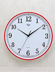 Модерн Семья Настенные часы,Круглый Пластик 14 В помещении Часы
