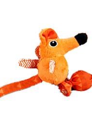 Игрушка для котов Игрушки для животных Плюшевые игрушки Мышь Оранжевый Текстиль