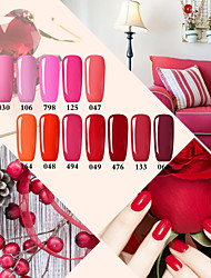 Nail Gel Perfect Red Color System Nail Polish UV&LED Lamp Gel Soak Off Nail Polish Red Rose