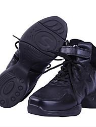 Damen Modern Leder Sneakers Im Freien Blockabsatz Schwarz Keine Maßfertigung möglich