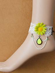 materiais / pulseira material de recurso de forma tornozeleira mostrado quantidade de jóias das mulheres de cor
