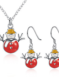 Jewelry 1 Necklace 1 Pair of Earrings Halloween Daily Casual 1set Women Multi Color Wedding Gifts