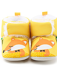 Girl's Flats Fall / Winter First Walkers / Crib Shoes Linen Casual Yellow