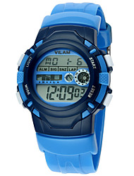 Vilam Kids' Sport Watch Digital Watch Water Resistant / Water Proof Digital Plastic BandStripe Heart shape Candy color Rainbow Eiffel