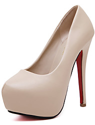 Women's Heels Decorate Heel with Metal Platform Round Toe 5.51 Inch Stiletto Heels Party&Evening / Night Club Sexy Pumps